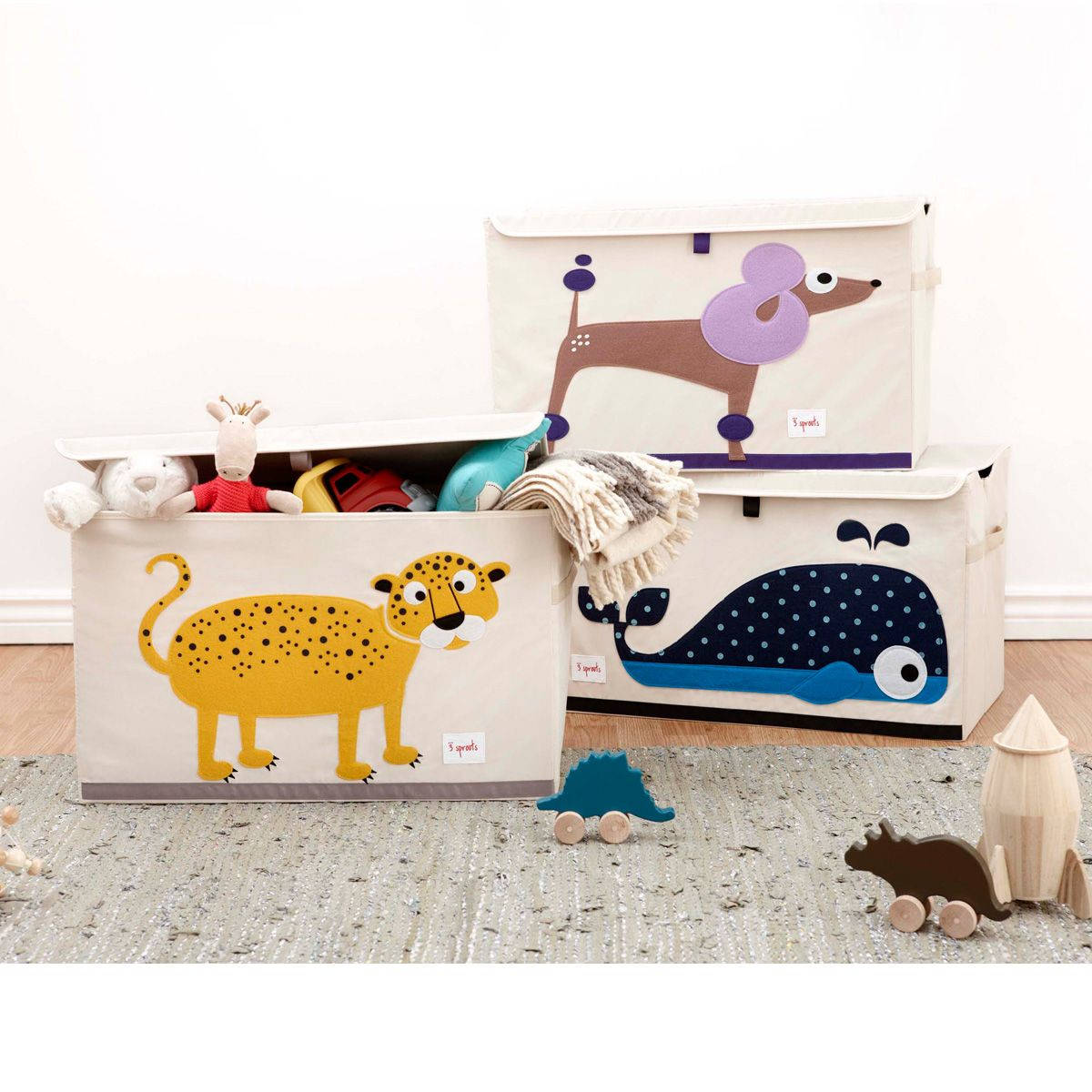 3 sprouts spielzeugkiste elefant little roomers. Black Bedroom Furniture Sets. Home Design Ideas