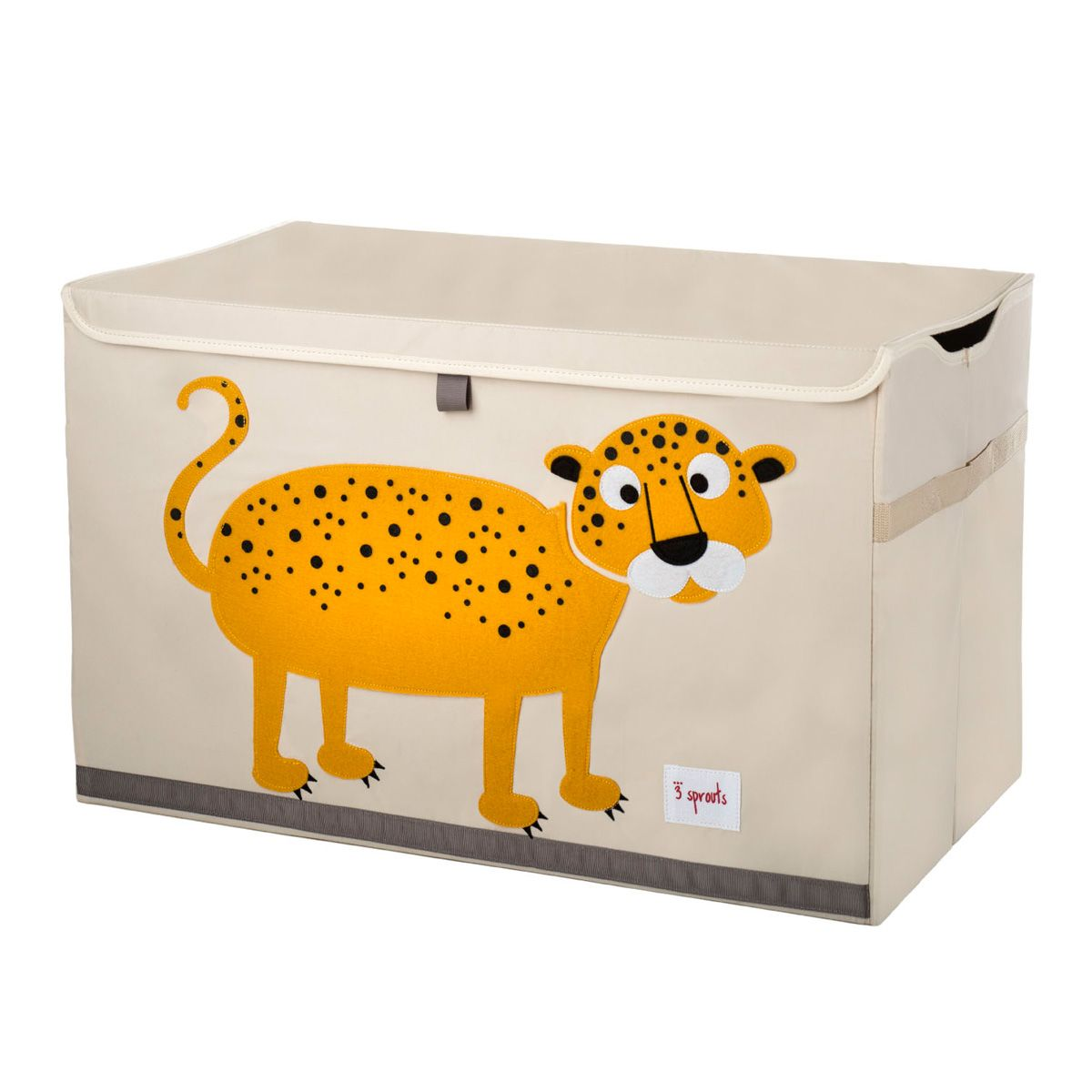 3 sprouts spielzeugkiste leopard little roomers. Black Bedroom Furniture Sets. Home Design Ideas