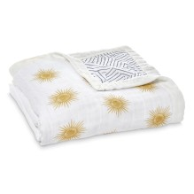 aden+anais - Decke Dream Blanket Metallic Gold Dandelion