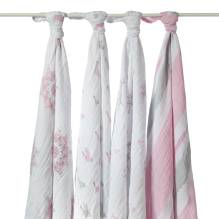 Mulltuch SWADDLE 'For the Birds' 4er-Set von aden+anais