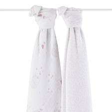 Mulltuch SWADDLE 'Lovely' 2er-Set von aden+anais