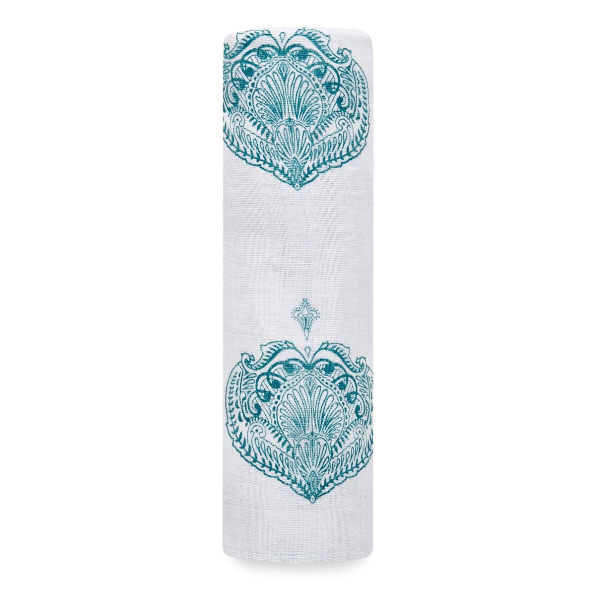 Mulltuch SWADDLE 'Paisley Teal'