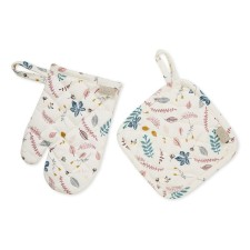 Kinder Topflappen-Set 'Pressed Leaves Rose' von Cam Cam Copenhagen