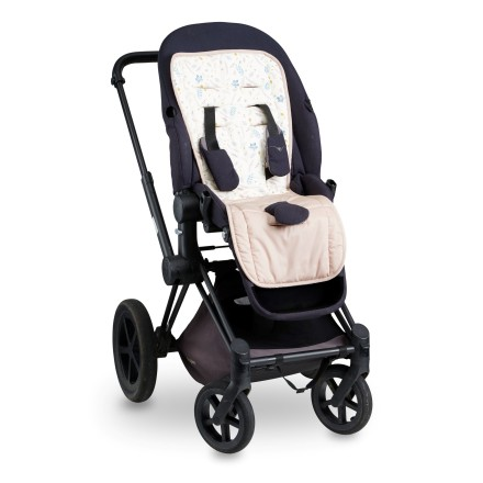 Kinderwagen Sitzauflage 'Pressed Leaves Rose'