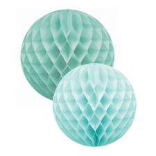Papierkugel 'Honeycomb' mint 2er-Set von Delight Department