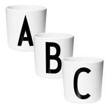Design Letters - Bambus Melamin Becher-Set 'Boys Racing Prints' (klein)
