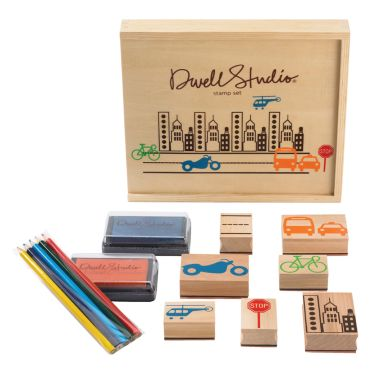stempel set 39 city 39 stadt von dwellstudio kaufen bei little roomers. Black Bedroom Furniture Sets. Home Design Ideas