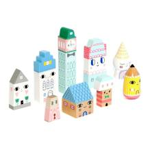Holzfiguren 'Suzy's City' von Petit Monkey