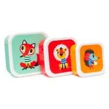 Lunchbox 'Animals' im 3er-Set von Petit Monkey