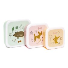 Lunchbox Brotdose 'Forest Friends' im 3er-Set von Petit Monkey