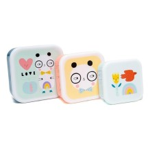 Petit Monkey - Lunchbox Brotdose 'Skate Boot' im 3er-Set