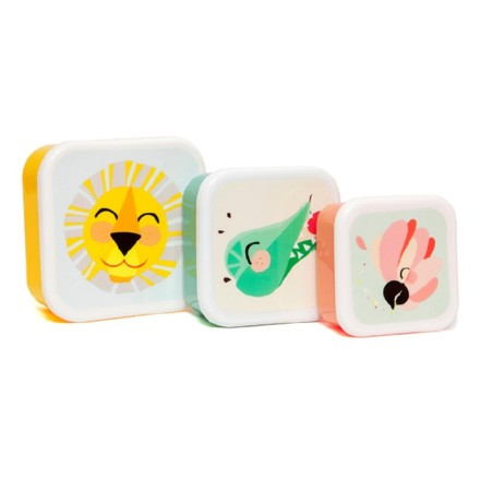 Lunchbox Brotdose 'Shiny Lion' im 3er-Set