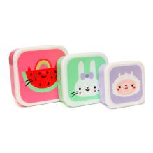 Lunchbox Brotdose 'Watermelon Sweetness' im 3er-Set von Petit Monkey