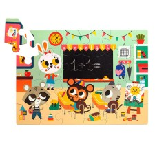 Puzzle 'At School' 24 Teile von Petit Monkey
