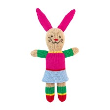 Stricktier Kuscheltier Mini Hase Bunny Girl von global affairs