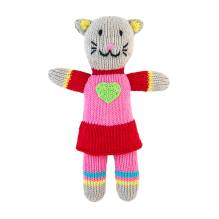 Stricktier Kuscheltier Mini Katze Cat Girl von global affairs