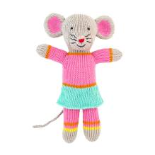 Stricktier Kuscheltier Mini Maus Mouse Girl von global affairs
