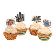 Cupcake Set 'Pop Art Superhero Party' von Ginger Ray