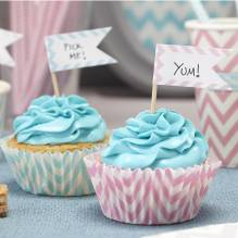 Cupcake Sticks 'Chevron Divine' von Ginger Ray