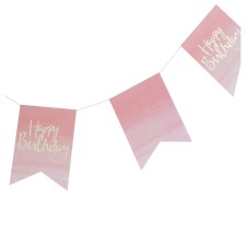 Happy Birthday Girlande 'Pick And Mix' Ombre rosa/gold von Ginger Ray