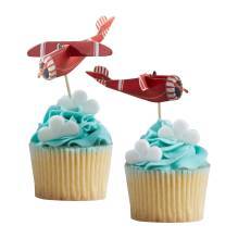Vintage Flugzeugparty 'Flying High' 3D Cupcake Sticks von Ginger Ray