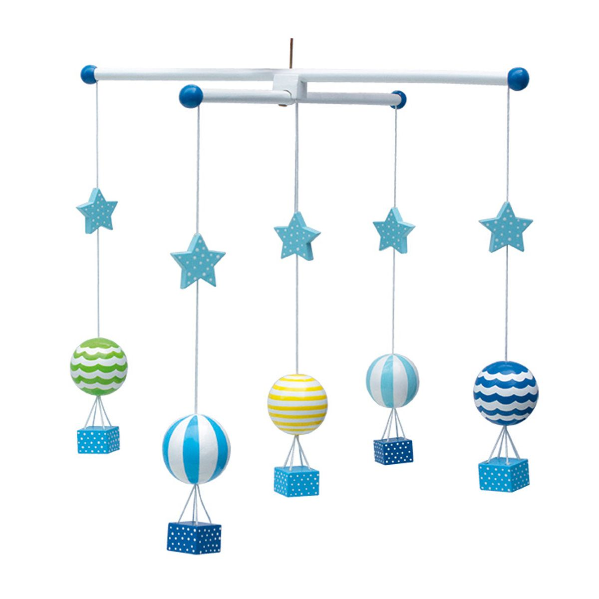 holz mobile ballon in blau von jabadabado kaufen bei little roomers. Black Bedroom Furniture Sets. Home Design Ideas
