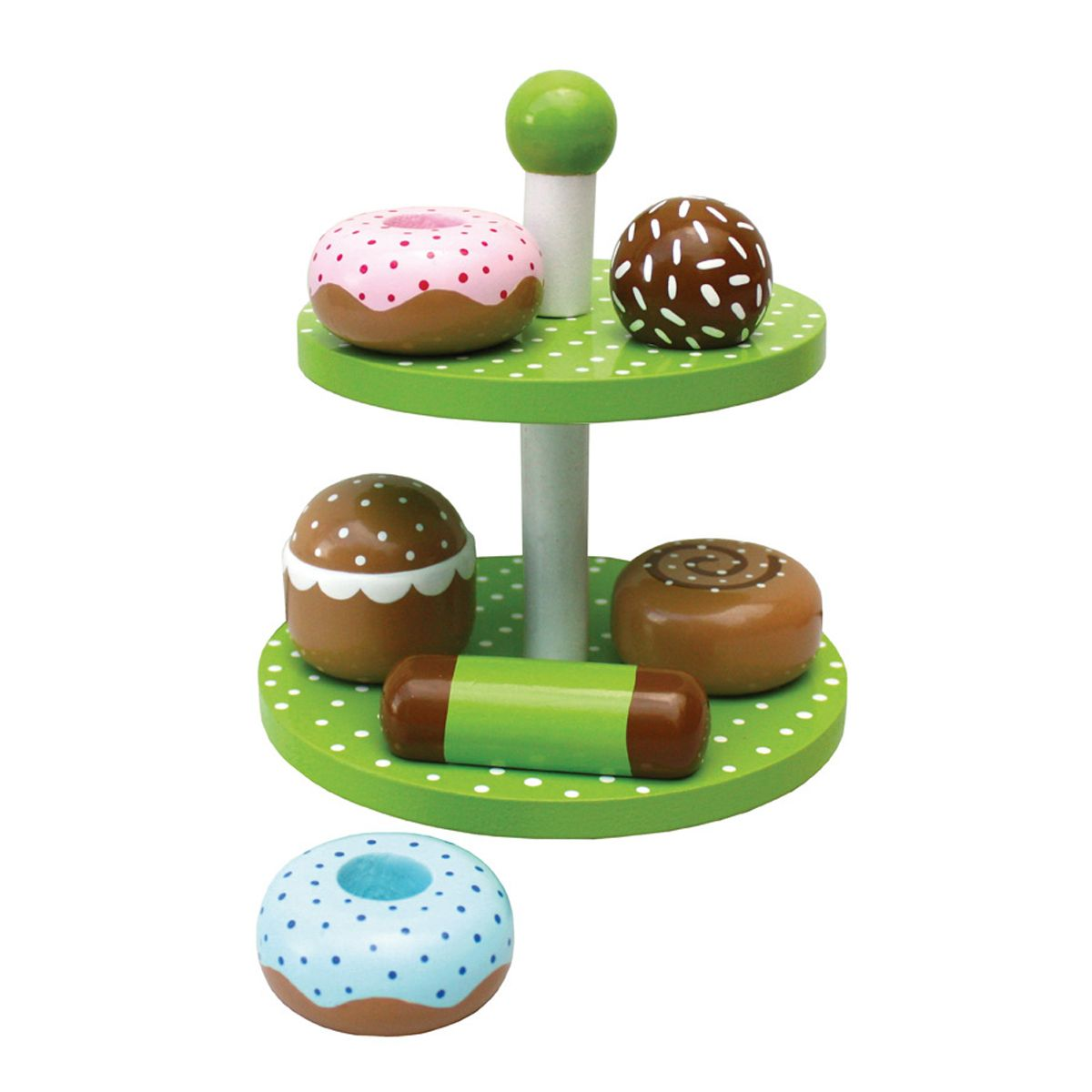 kinder holz etagere mit donuts geb ck von jabadabado kaufen. Black Bedroom Furniture Sets. Home Design Ideas