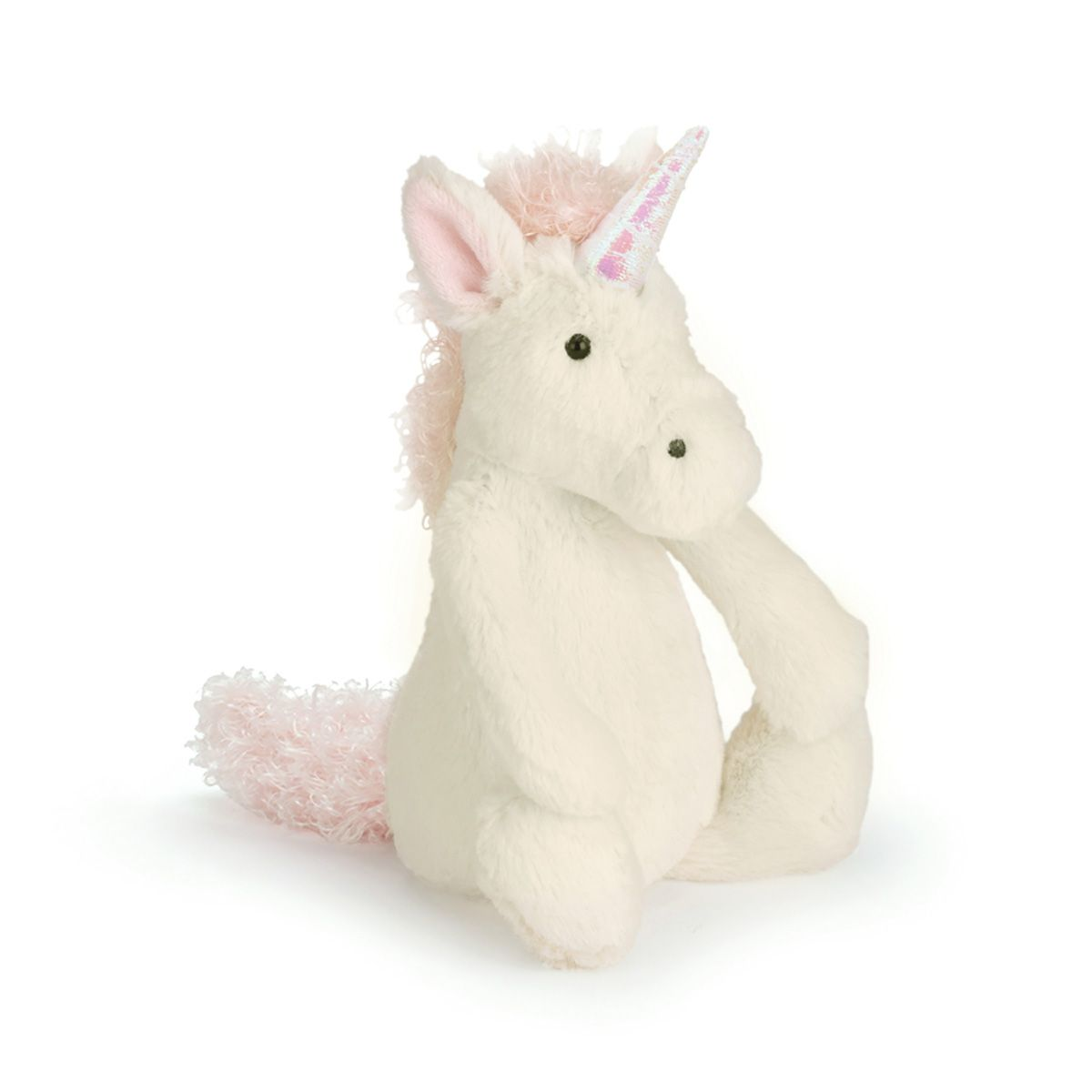 kuscheltier einhorn 39 bashful unicorn 39 klein von jellycat kaufen. Black Bedroom Furniture Sets. Home Design Ideas