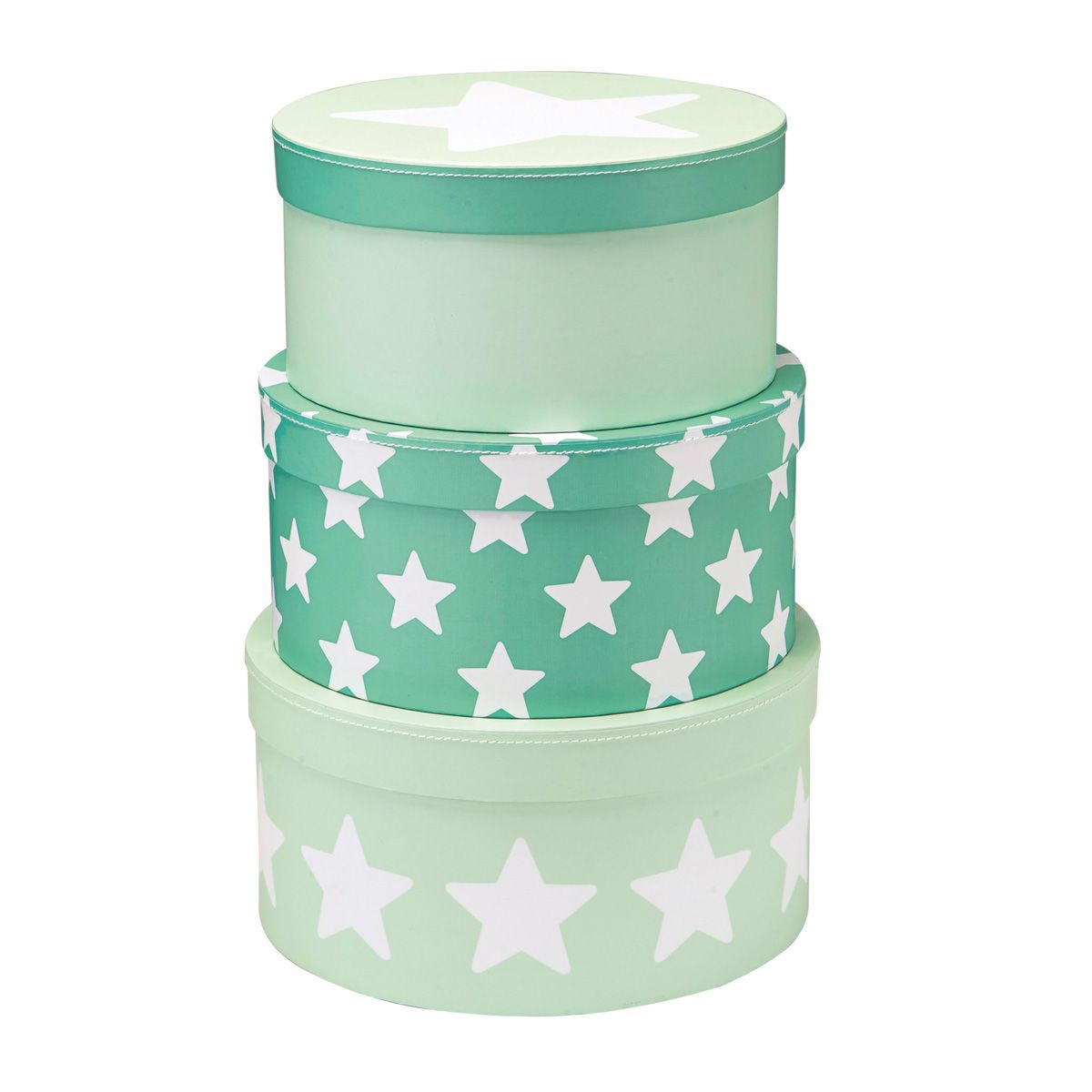 Pappboxen rund 'Star' mint 3er-Set