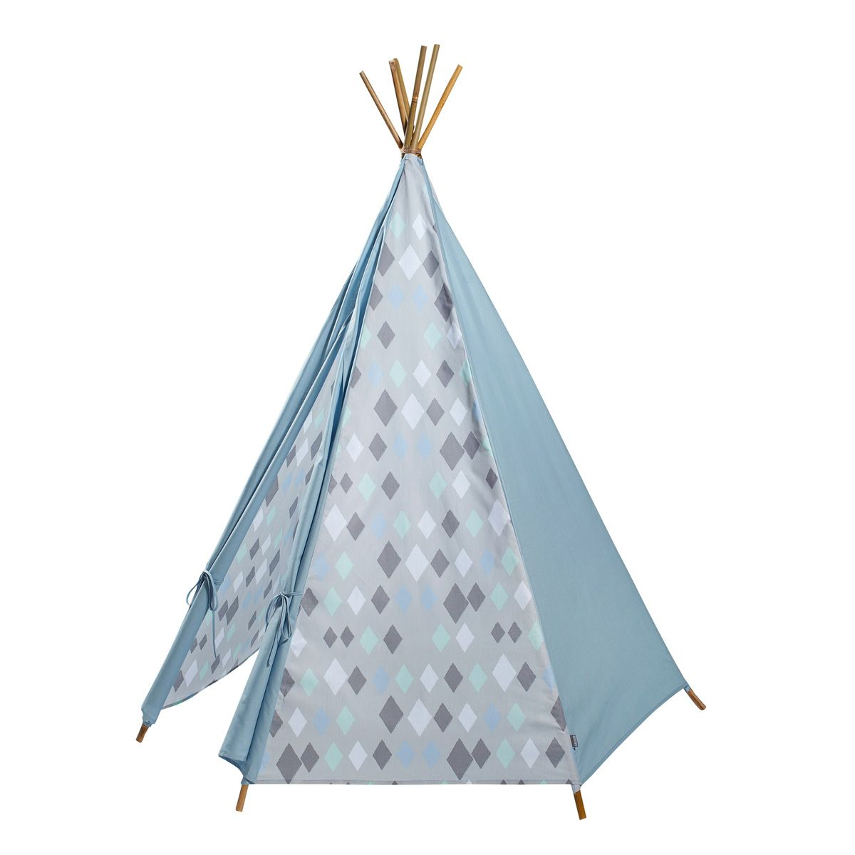 tipi zelt 39 wieber 39 rauten blau von kidsdepot kaufen bei little roomers. Black Bedroom Furniture Sets. Home Design Ideas