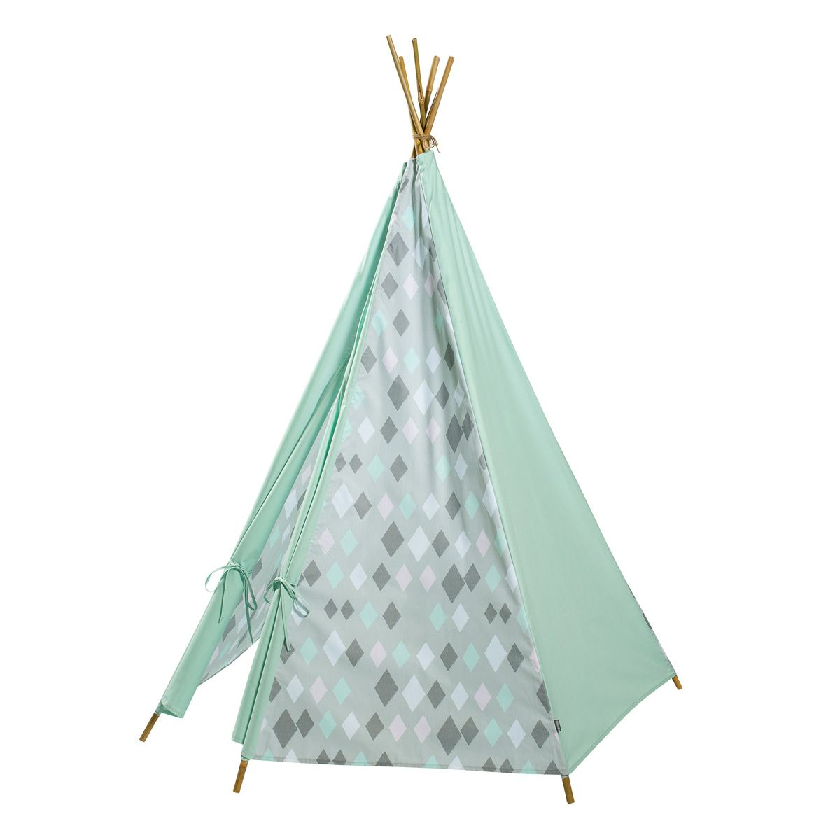 tipi zelt 39 wieber 39 rauten mint von kidsdepot kaufen bei little roomers. Black Bedroom Furniture Sets. Home Design Ideas