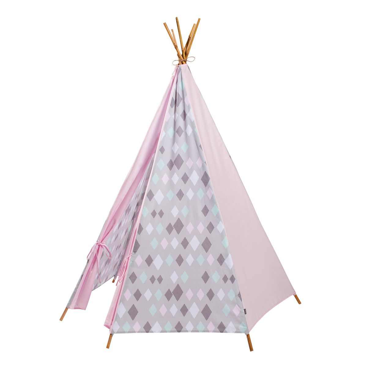 tipi zelt 39 wieber 39 rauten rosa von kidsdepot kaufen bei little roomers. Black Bedroom Furniture Sets. Home Design Ideas