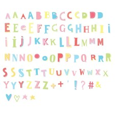 Lightbox Letter-Set Buchstaben 'Funky Colour' pastell von A Little Lovely Company