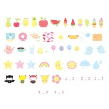 Lightbox Letter-Set 'Kawaii' pastell von A Little Lovely Company