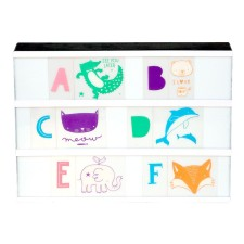 Lightbox Letter-Set 'Tier-ABC' pastell von A Little Lovely Company
