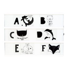 Lightbox Letter-Set 'Tier-ABC' schwarz von A Little Lovely Company