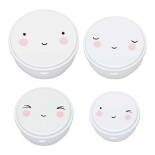 Snackbox 'Happy Face' 4er-Set von A Little Lovely Company