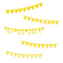 Symbol-Banner Girlande Basics gold von A Little Lovely Company