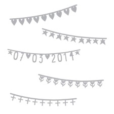 Symbol-Banner Girlande Basics silber von A Little Lovely Company