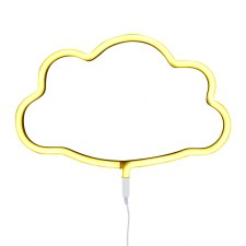 Wandlampe Neonlicht 'Cloud' Wolke gelb von A Little Lovely Company