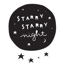 Wandsticker 'Starry Night' von A Little Lovely Company