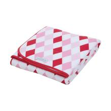 Babydecke pure & soft - Rauten rosa-rot von Little Dutch