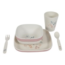 Little Dutch - Bambus Geschirr-Set Box 'Panda' creme 4-teilig