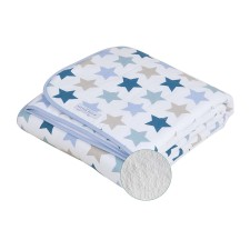 Bettdecke pure & soft - Mixed Stars Mint von Little Dutch