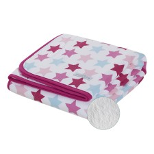 Bettdecke pure & soft - Mixed Stars Pink von Little Dutch