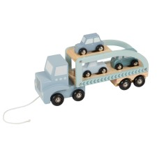 Holz Auto-Transporter hellblau/mint von Little Dutch