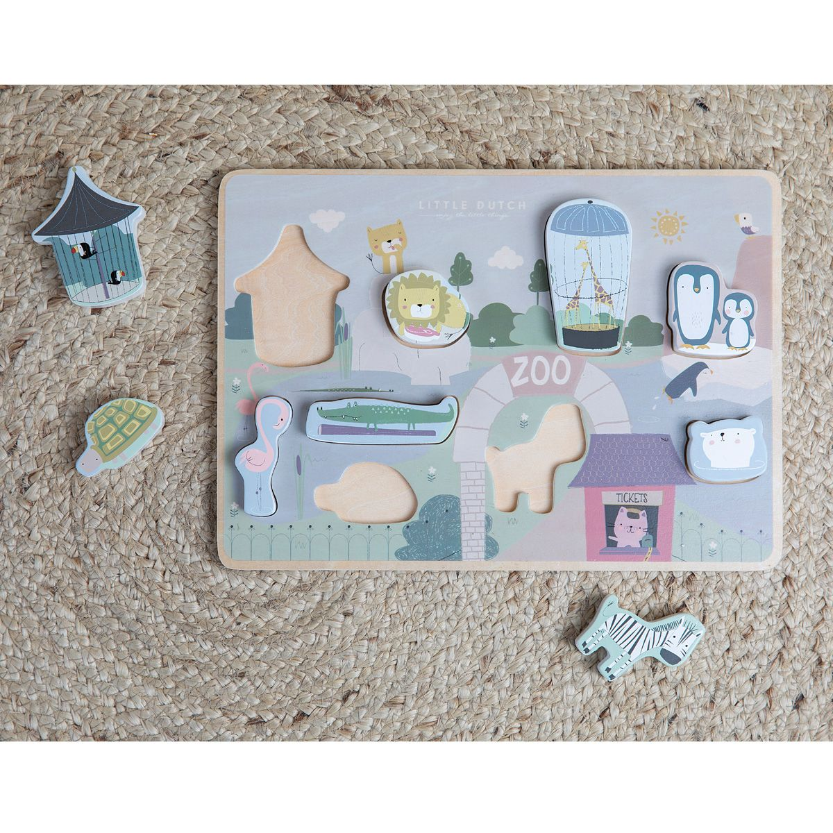 Holz-Formpuzzle 'Zoo'