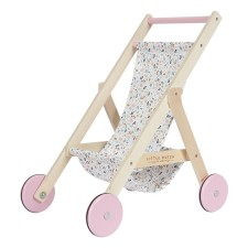 Holz Puppenbuggy - Spring Flowers von Little Dutch