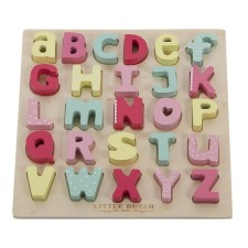 Holz-Puzzle 'Alphabet' rosa von Little Dutch