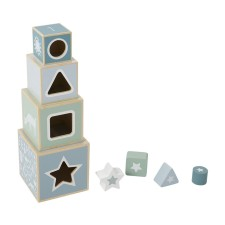 Holz-Stapelturm - Adventure Blue von Little Dutch